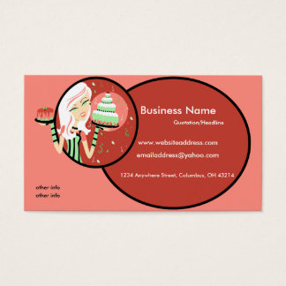 Baker/Bakery/Pastry Chef 2 Business Cards