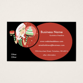 Baker/Bakery/Pastry Chef 3 Business Cards