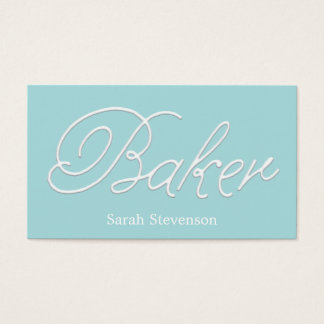 Baker Bakery  Pastry Chef Icing Typography Business Card