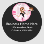 Baker/Bakery/Pastry Chef Return Address Labels Round Sticker