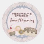 baker baking cupcake cookies cake gift stickers...