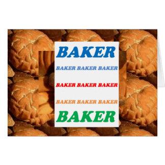 BAKER Biscuits Cookies Cake Pastry Icecream FUN JO Card