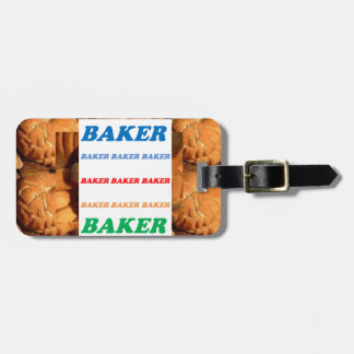 BAKER Biscuits Cookies Cake Pastry Icecream FUN JO Tag For Bags