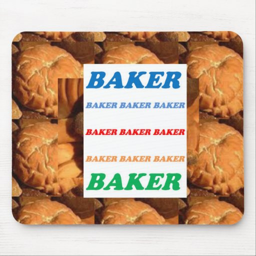 BAKER Biscuits Cookies Cake Pastry Icecream FUN JO Mouse Pad