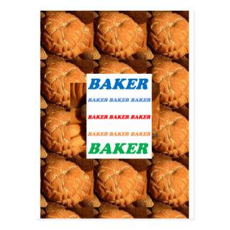 BAKER Biscuits Cookies Cake Pastry Icecream FUN JO Postcard