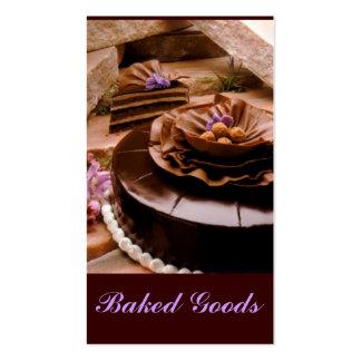 Baker Cake Truffle Business Card Templates