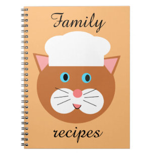 Baker Cat Recipe Notebook