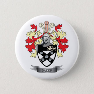 Baker Coat of Arms 6 Cm Round Badge