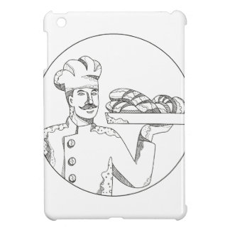 Baker Holding Bread on Plate Doodle Art Case For The iPad Mini