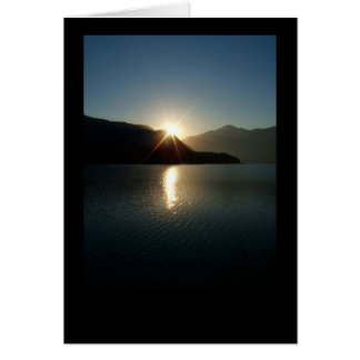 Baker Lake - Panorama Point - Sunrise note card