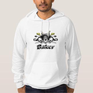 Baker Skull and Kitchen Utensils Hoodie