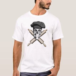 Baker Skull and Rolling Pins: Black T-Shirt