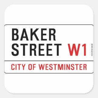Baker Street Square Sticker