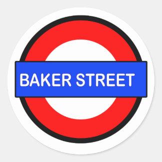 Baker Street Underground station Classic Round Sticker