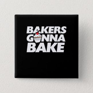 Bakers gonna bake 15 cm square badge