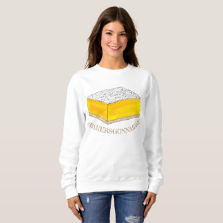 Bakers Gonna Bake Hashtag Yellow Lemon Square Bar Sweatshirt