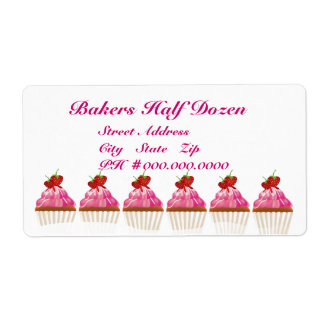 Bakers Half Dozen Shipping Label