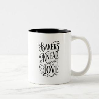 Bakers Knead Love - Fun for Chefs Two-Tone Coffee Mug