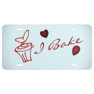 Baker's License Plate License Plate