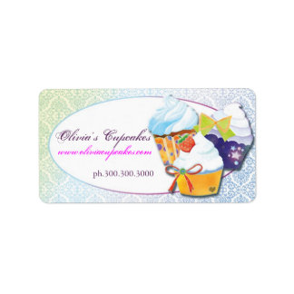 Bakers & Pastry Chefs Cupcake Business Address Label