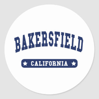 Bakersfield California College Style t shirts Classic Round Sticker