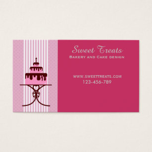 Cake decorating business cards business card printing zazzle bakery and cake design sweet treats business card colourmoves