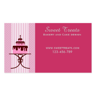 Bakery and cake design, Sweet Treats Pack Of Standard Business Cards