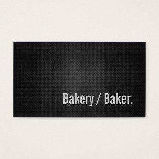 Bakery / Baker Cool Black Metal Simplicity Business Card