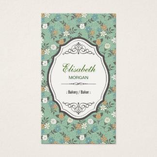 Bakery / Baker - Elegant Vintage Floral Business Card