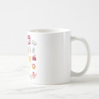 Bakery beverage and sweet kitchen cute icon set coffee mug
