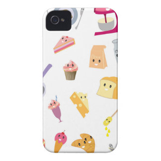 Bakery beverage and sweet kitchen cute icon set iPhone 4 Case-Mate case