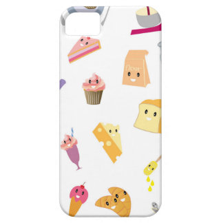 Bakery beverage and sweet kitchen cute icon set iPhone 5 cover