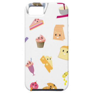 Bakery beverage and sweet kitchen cute icon set tough iPhone 5 case