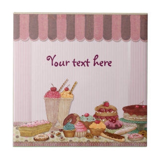 Bakery Boutique Cakes - Patisserie - Customize Small Square Tile