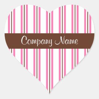 Bakery Business Heart Stickers