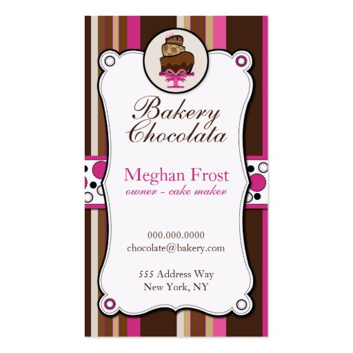 Bakery & Cake Chocolate Overload Business Cards