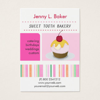 Bakery Cakes Cupcake Delightful Personalized Business Card
