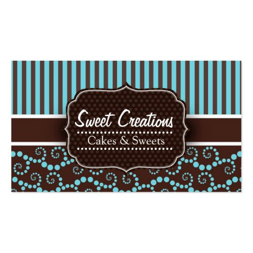 Bakery/Cakes/Sweets Creations Business Card Templates