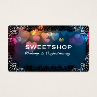 Bakery & Catering Blue Hearts Businesscard