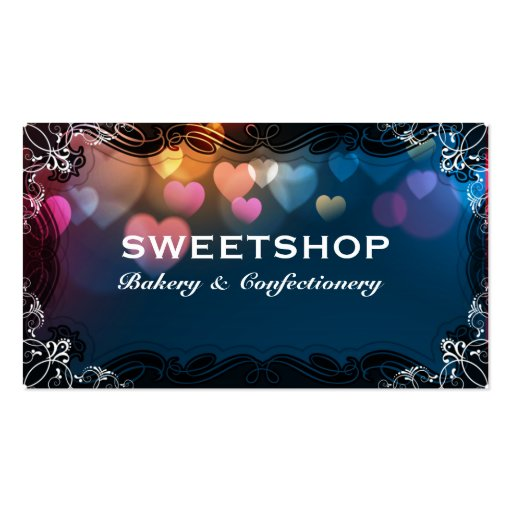 Bakery & Catering Blue Hearts Businesscard Business Cards