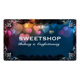 Bakery & Catering Blue Hearts Businesscard Pack Of Standard Business Cards