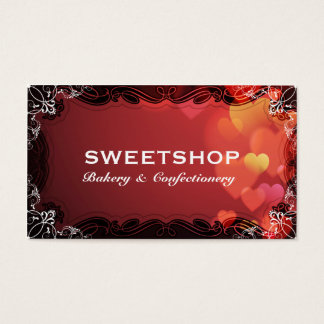 Bakery & Catering Red Hearts Businesscard