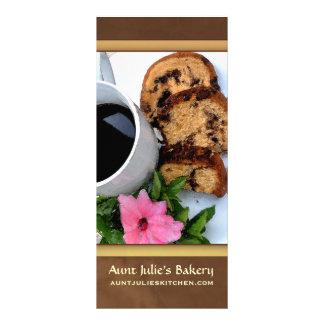 Bakery / Coffee shop Advertisement Customised Rack Card