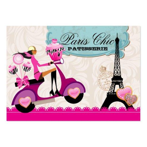 Bakery Cupcake Cake Pops Paris Eiffel Tower xox b Business Cards