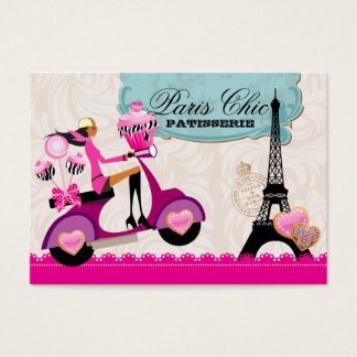 Bakery Cupcake Cake Pops Paris Eiffel Tower xox b Business Card