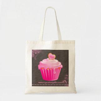 Bakery Cupcake pink floral heart Handbag
