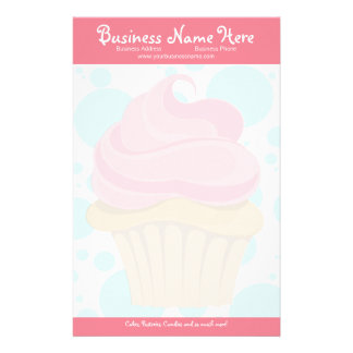 Bakery Cupcake Stationary Stationery Design