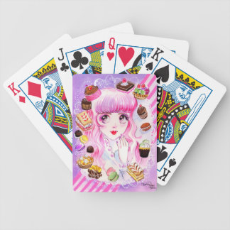 Bakery Girl Bicycle Playing Cards