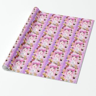 Bakery Girl Wrapping Paper