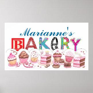 Bakery - Kitchen Poster Sign - SRF